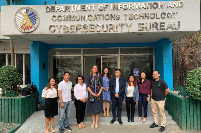 ECPAT Philippines and INHOPE visited the Cybersecurity Bureau