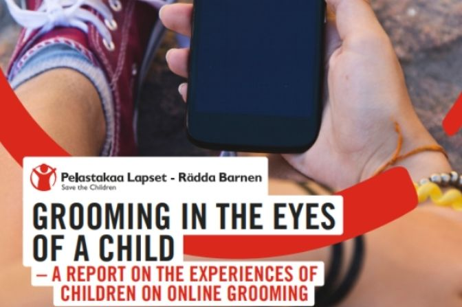 Save the Children Finland published a report on online grooming in English