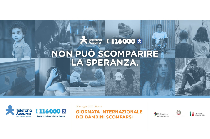 Telefono Azzurro celebrate International Missing Children's Day