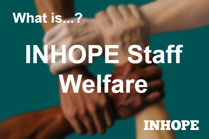 What staff welfare support does INHOPE give its members?