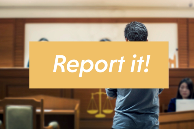 Your reports lead to investigations and arrests
